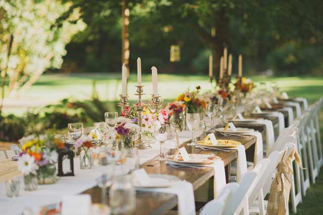 Een tafelschikking maken voor je bruiloft