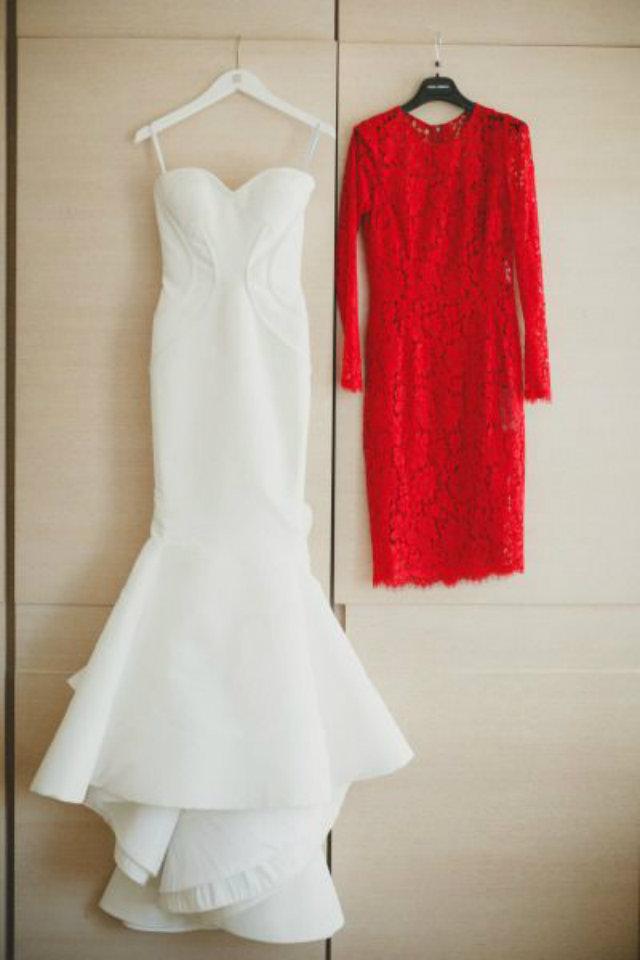 bruidsjurk rood