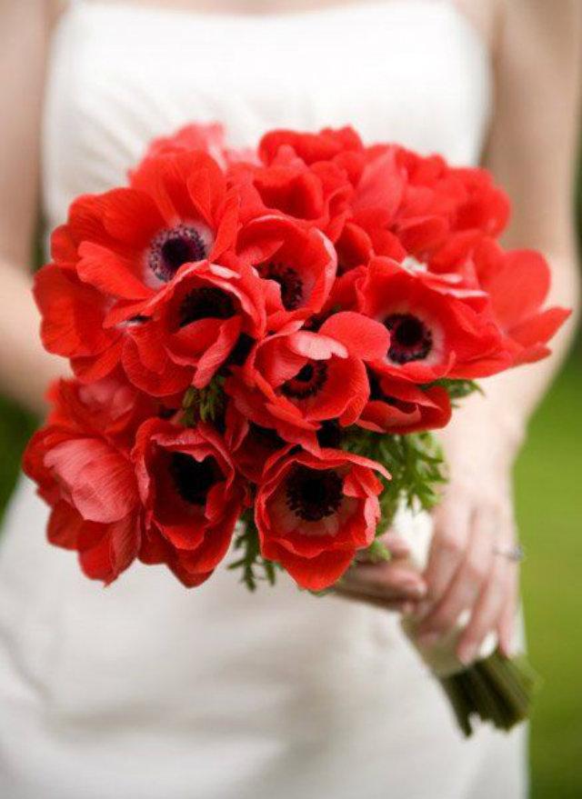 bruidsboeket rood