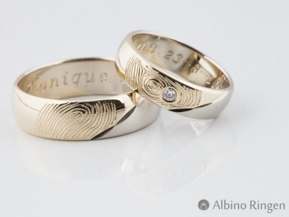 Albino trouwringen