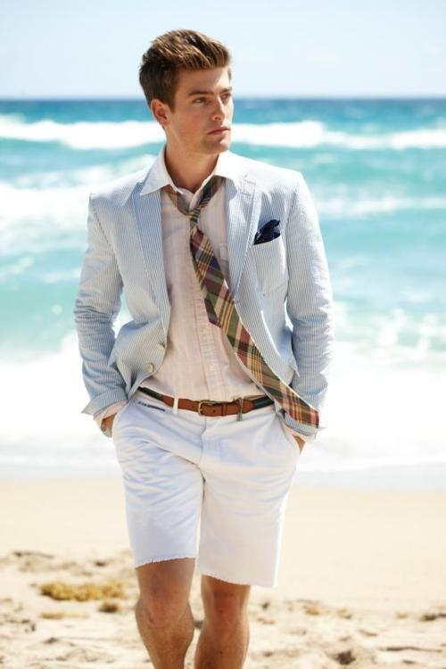 trouwkleding man strand