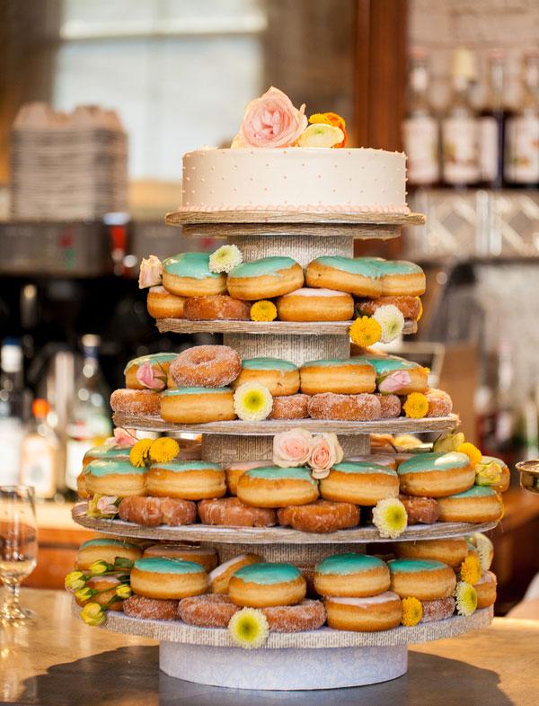donuts als bruidstaart