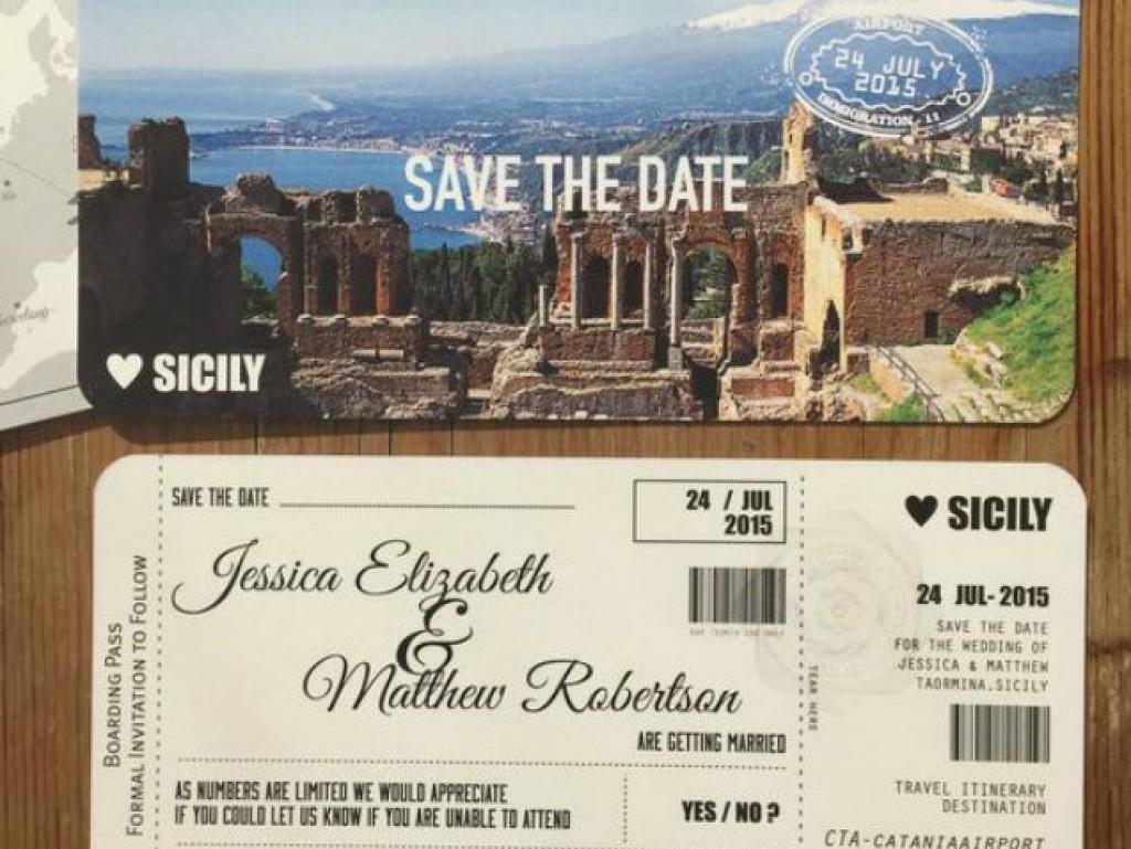 Uitnodiging bruiloft in het buitenland