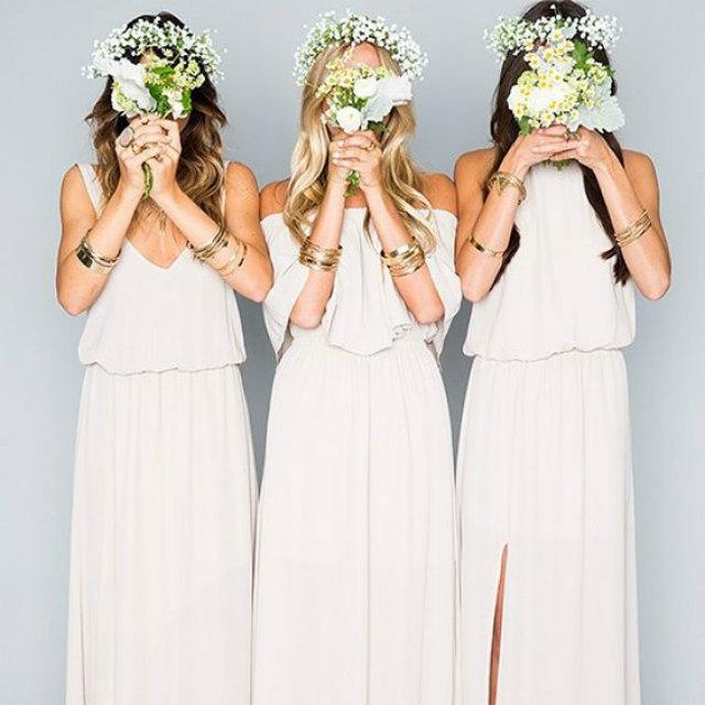 bruidsmeisjes witte jurk