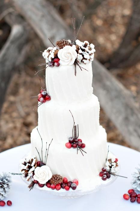 winter bruidstaart