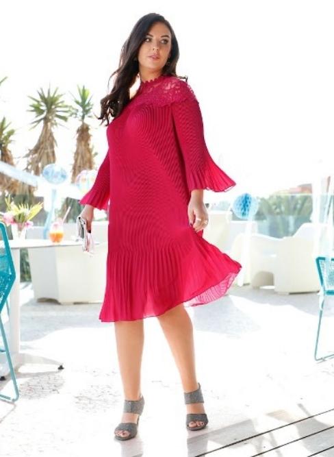 Sara Lindholm jurk zomers Happy Size