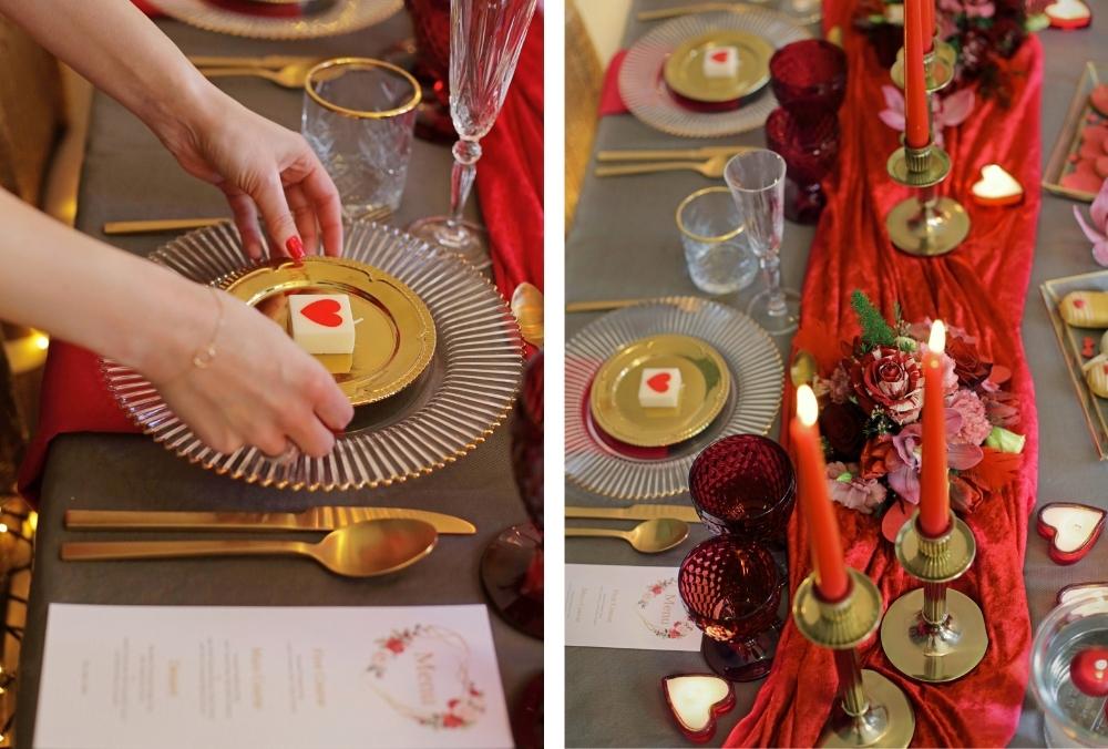 huwelijksaanzoek op valentijnsdag tussen rode rozen 19