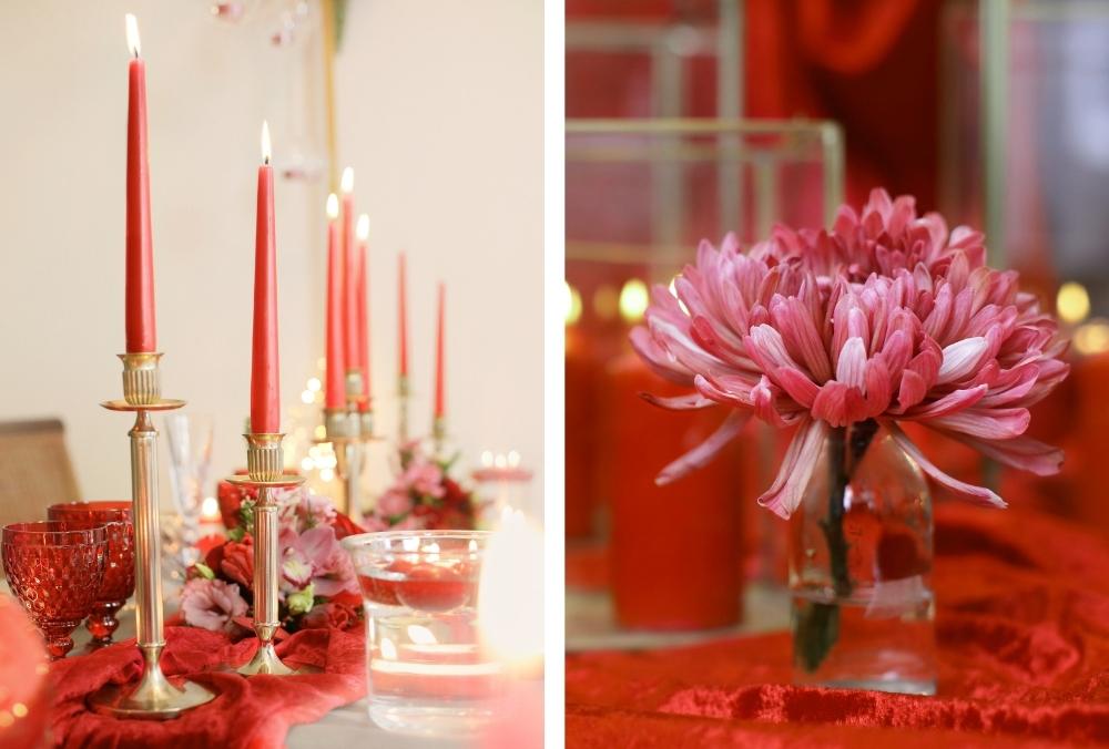 huwelijksaanzoek op valentijnsdag tussen rode rozen 20