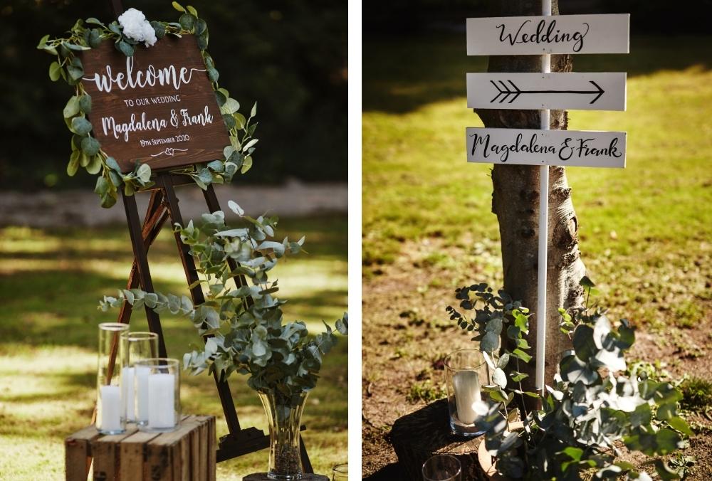 micro wedding trend welkomstbord